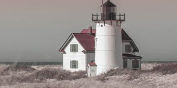 Race Point Lighthouse - Race Point Light, Provincetown, Cape Cod.