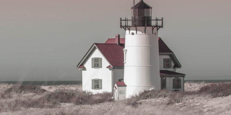 Race Point Lighthouse - Race Point Light, Provincetown, Cape Cod.