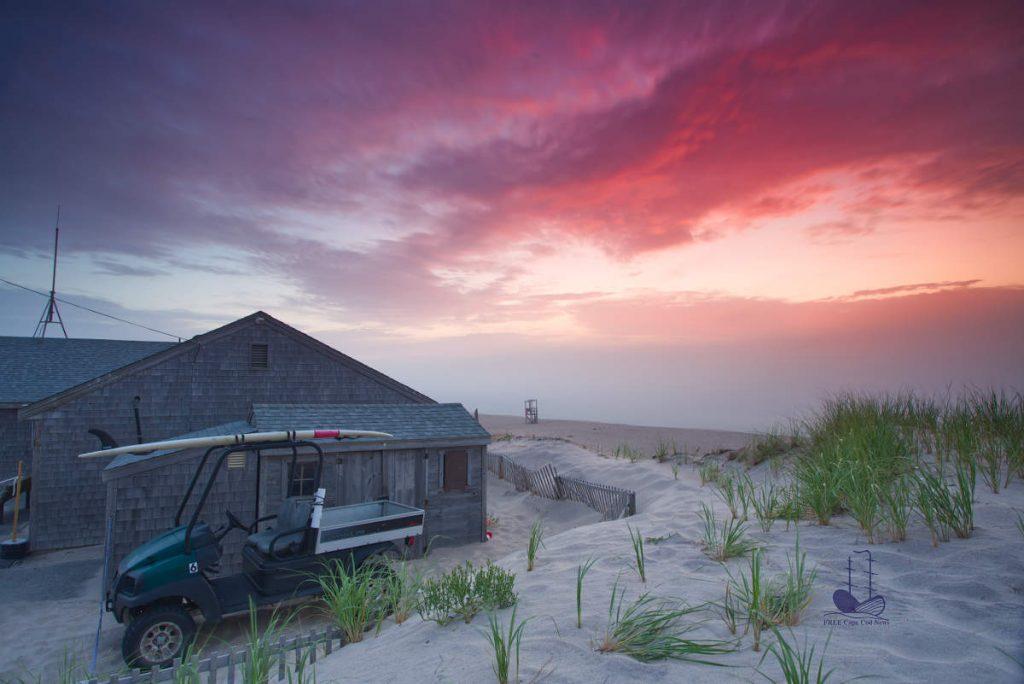 Cape Cod weather: Beautiful sunrise before hurricane Isaias. Nauset beach, Orleans, MA. FREE Cape Cod News.
