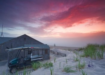 Cape Cod weather: Beautiful sunrise before hurricane Isaias. Nauset beach, Orleans, MA. FREE Cape Cod News.
