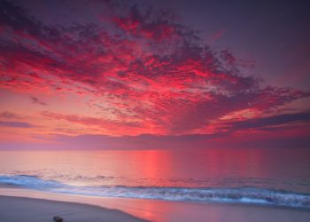 Wow sunrise over nauset beach, Orleans, Massachusetts. FREE Cape Cod News.