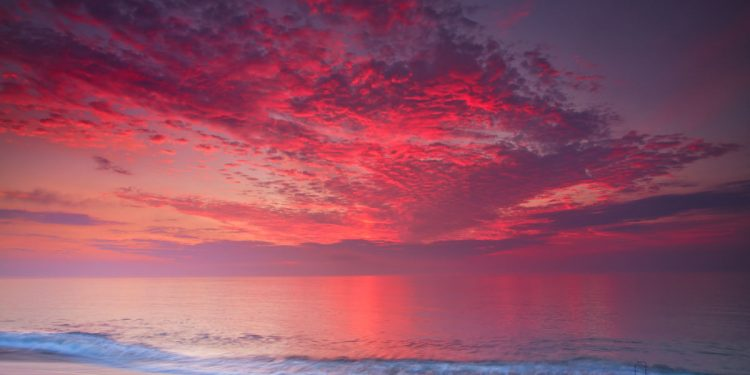 Wow sunrise over nauset beach, Orleans, Massachusetts. FREE Cape Cod News.
