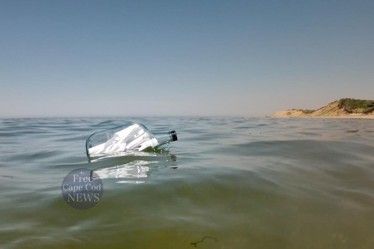 Cape Cod Treasure in a bottle on Cape Cod National Seashore. FREE Cape Cod News.