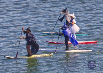 Witches Paddle Parade on Town Cove in Orleans Cape Cod
